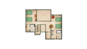 DVC's Hilton Head Resort Three-Bedroom Grand Villa Second Floor